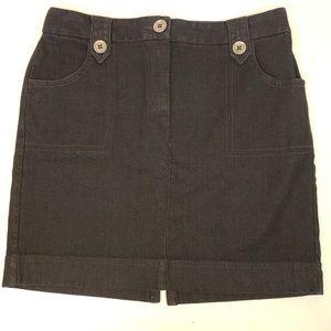 Ann Taylor LOFT Dark Wash Denim Skirt 6 Petite